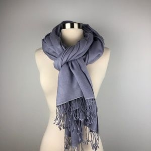 Aqua Purple Oversized Scarf Wrap